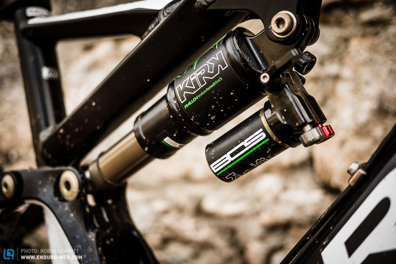 French's Finest: The new BOS KIRK rear shock is custom tuned for the Rallon and offers all adjustments you could wish for.