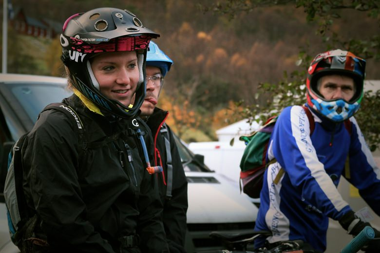 EWS racer Ines Thoma  came over to check out the UK event!