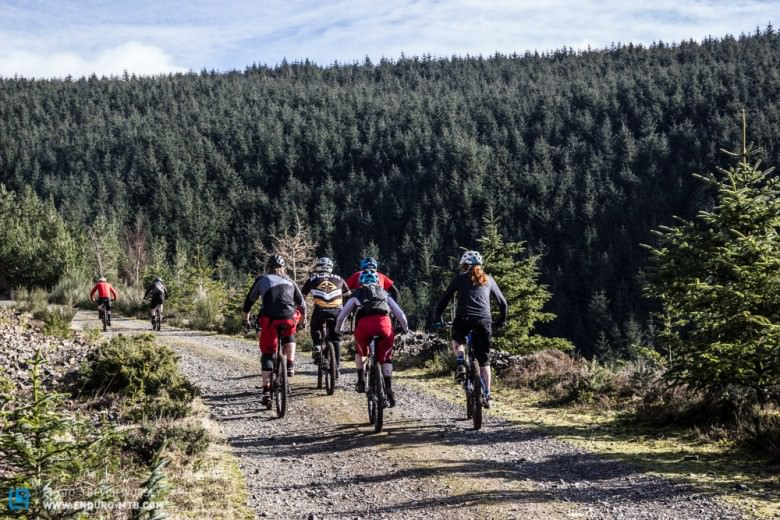 The transitions will mainly be on old forestry fire roads!  A good chance to catch up with old friends!  Don't dawdle too much though, with 600 riders,  times will be tight.