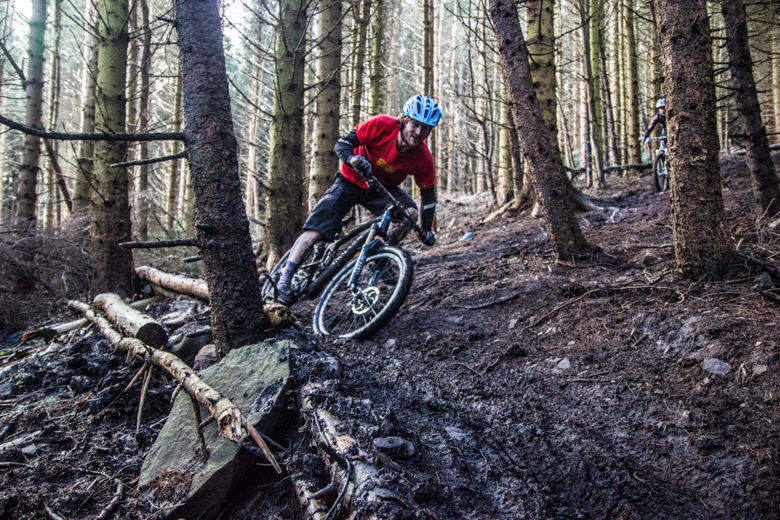 Fast and loose, if the weather is damp, riders will need solid Kung Fu to negotiate the steep natural trails!