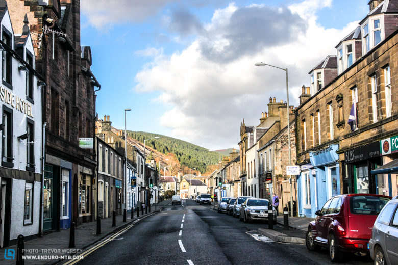 The historic towns of Peebles and Innerliethen (pictured) have everything a travelling racer and supporting family needs!
