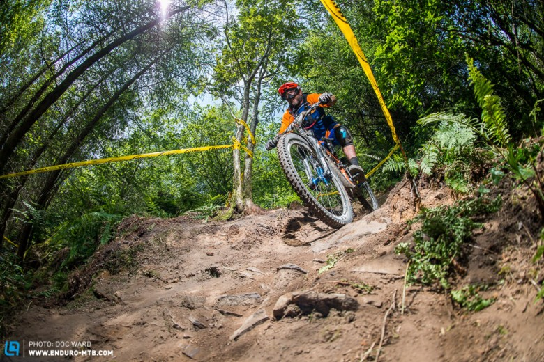 In use, technical stages of Enduro racing