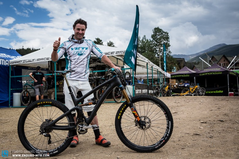 And when the dust had settled, Jared Graves was a happy man, with a new shiny bike, taking the win at the Enduro World Series, Winter Park, Colorado stop. Congrats!