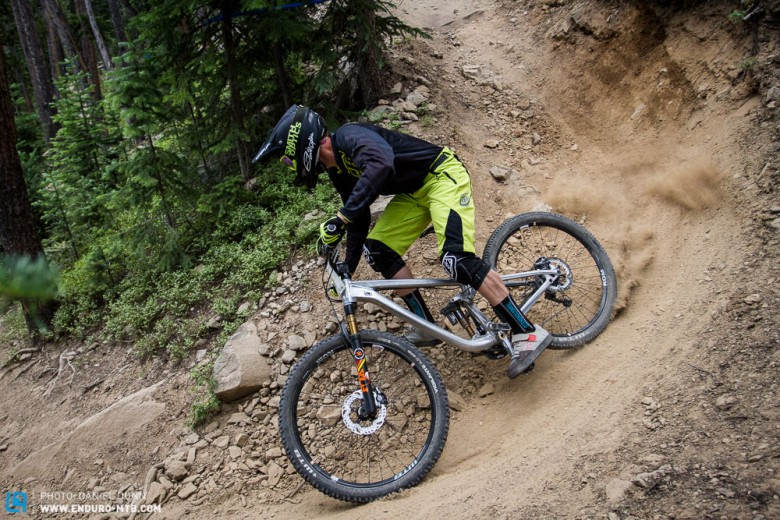 """Lars Sternberg was having a good weekend of racing, on US soil, until an untimely flat on the final stage dashed hopes for a good result. Here he drifts through the mega dry Colorado """"dirt""""."""