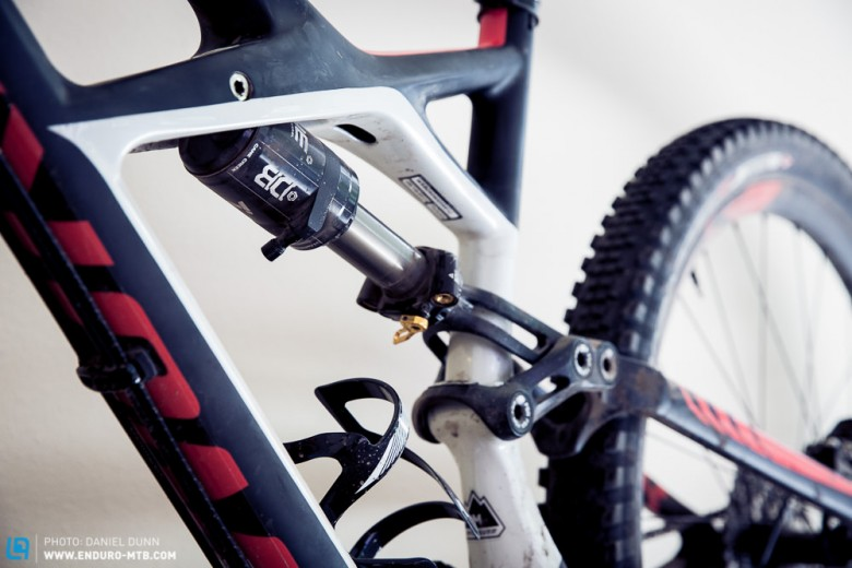 X-Wing frame with All Mountain geometry. Three models come equipped with new Cane Creek Double Barrel Inline shock.
