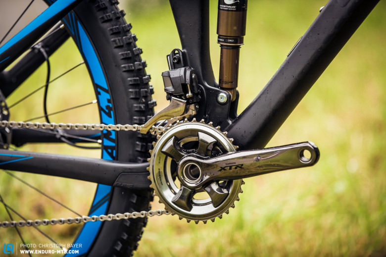 With a 2x11 XTR drivetrain, no hill should be too steep.
