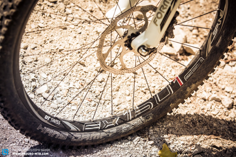 Convinces: The DT Swiss Spline EX 1501 Wheels don't need any extra care.