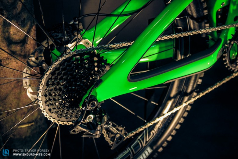 The SB6c has 157mm of rear wheel travel, driven by the Switch Infinity Link.
