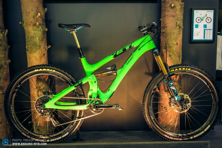 The striking new Yeti SB6c in the new green colour scheme.  It is also available in black and turquoise.