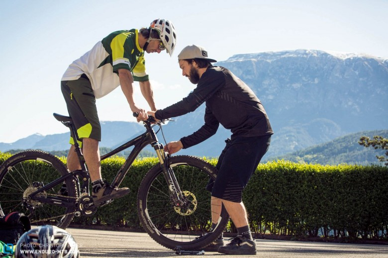 It's very important that we set up each bike to the rider to form an accurate opinion.