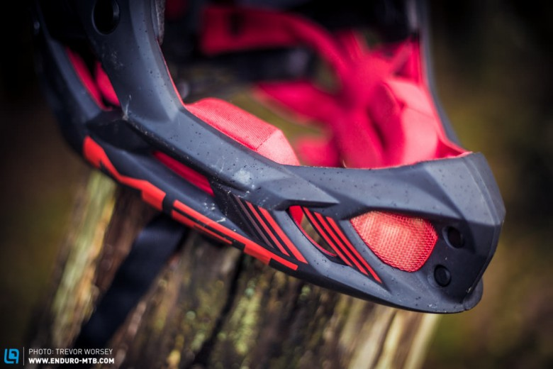 The fixed chin guard meets the same strength standards as all other certfied full faces on the market