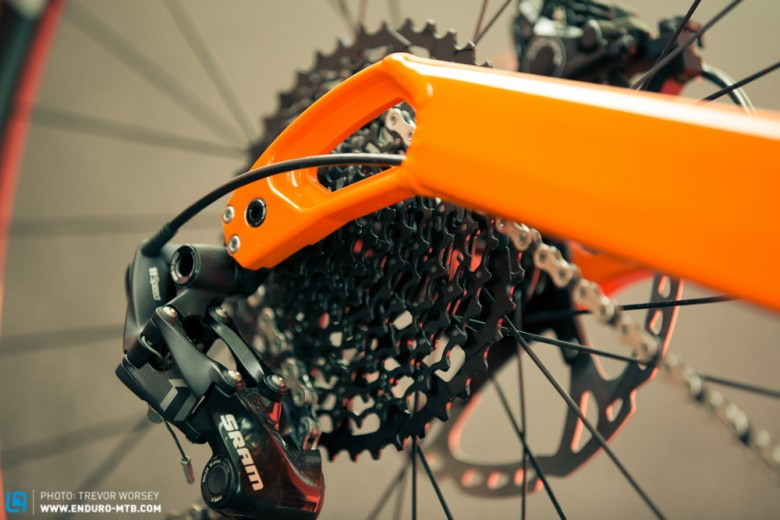 Refined drop-outs are mated to more rigid arms improving rear stiffness