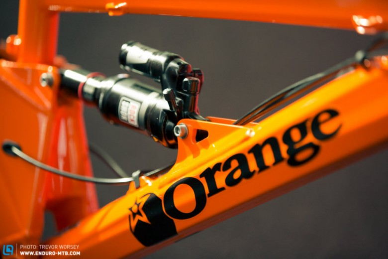 A new lighter shock mount has been designed to improve stress dispersal through the downtube