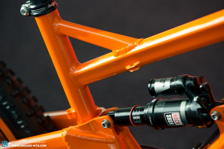 The new top tube is aggressive and more angular, more stealth bomber than garden gate