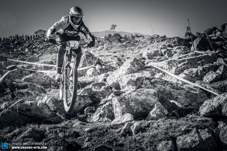 With a huge experience of DH, Tracy is not phased by the more technical stages