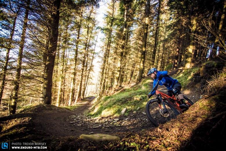 In bike park terrain the G-150 is a shred machine, linking and powering through turns effortlessly