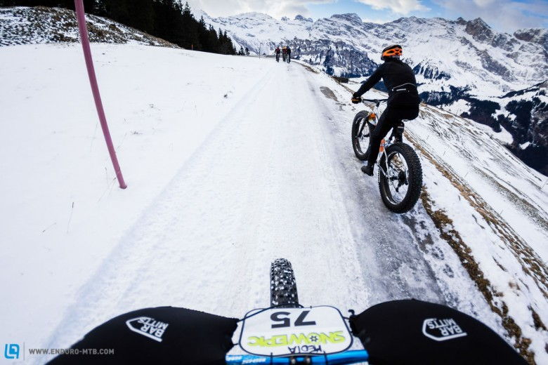 View from rider's cockpit during stage 2 and 3, Foto: Snow Epic / Marc Gasch