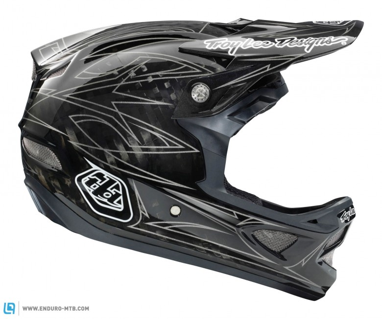 The D3 is available in a raw carbon fiber pinstripe in addition to the bright designs.