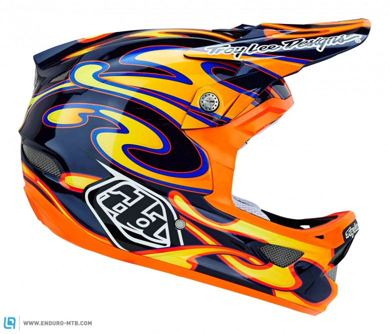 Troy Lee's helmets have always had loud graphics. 2015 is no different.