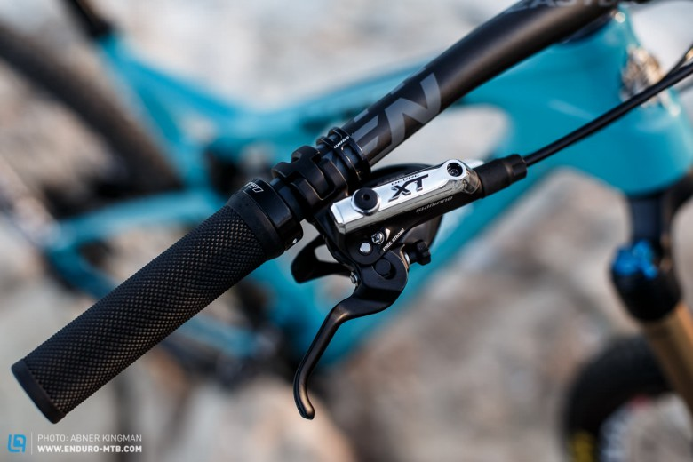XT brakes were a popular choice in this test, for good reason too. But are 160mm rotors F/R enough?