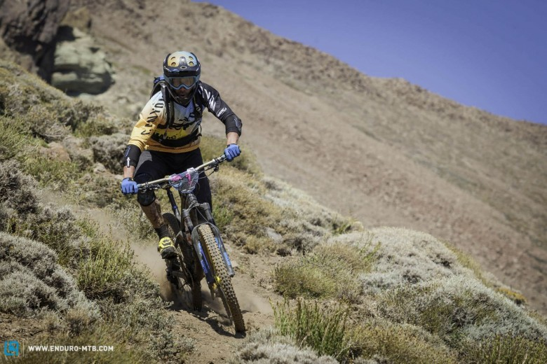 Fabien Barel had a good day but not good enough to win the stage, which was won by Nico Lau.