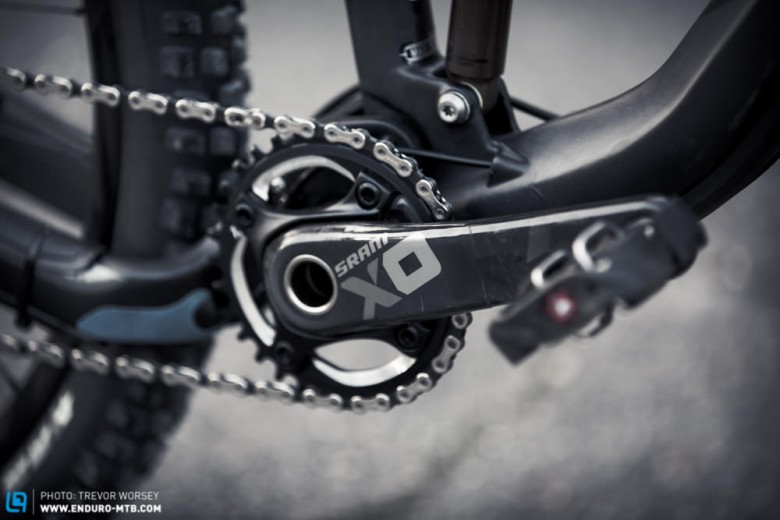 Single chainring, so smooth running with the great chain line