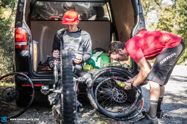The goal of the test was to give Jerome time on three models of SRAM wheels and let him evaluate the benefits of each.