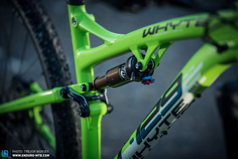 Whyte have chosen to mix suspension with a Fox Float Factory Kashima controlling the rear 120 mm