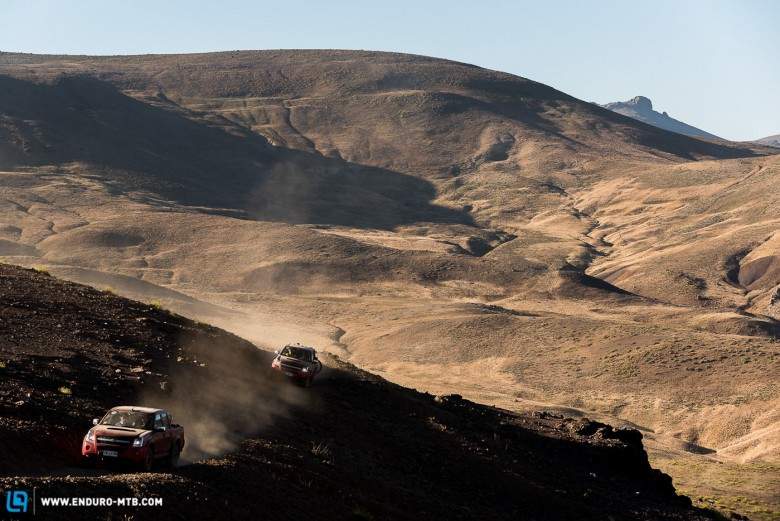 Old mining roads provide access for shuttle vehicles to get riders close to the start of the day, but once the roads end riders must pedal the last few kilometers to the start of each stage.