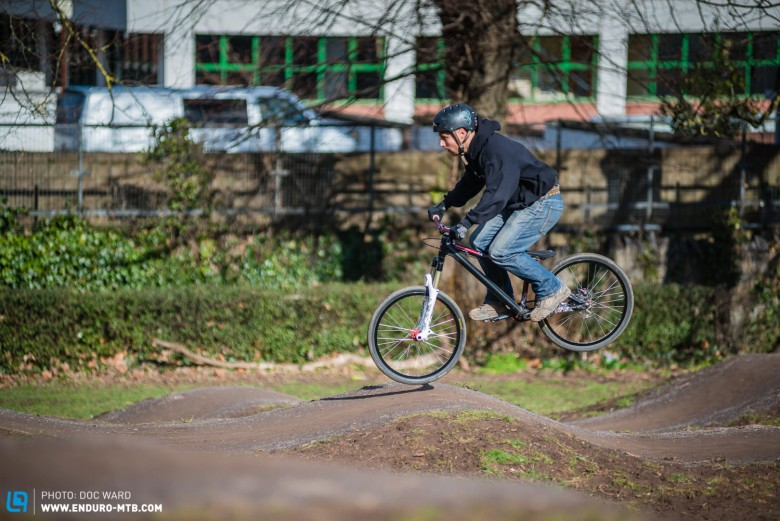 Pump tracks are great riding areas within city boundaries