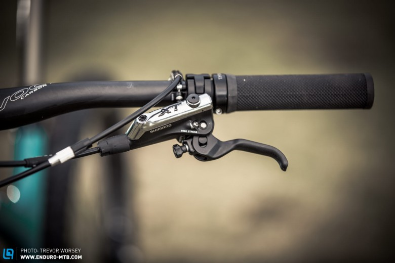 Shimano XT brakes are reliable, quality stoppers.  Speaking of quality the Thomson  elite dropper post is machined perfection