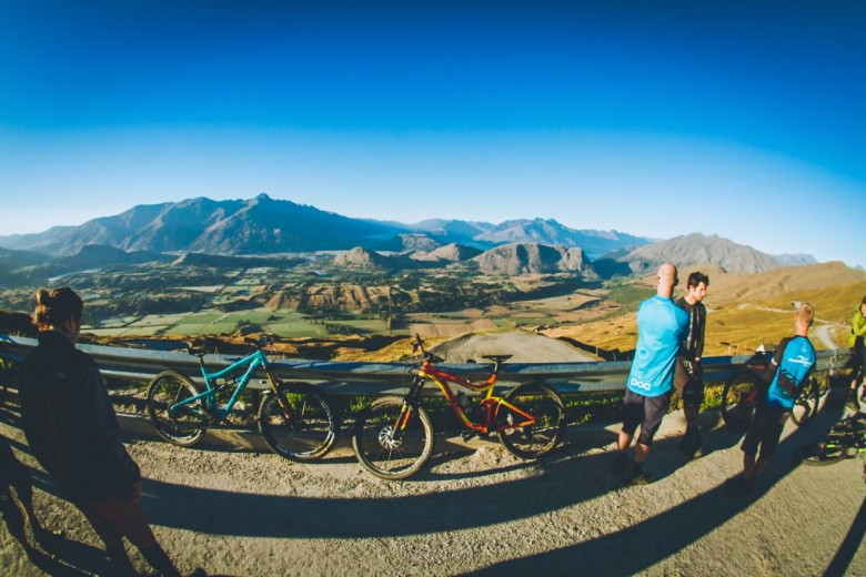 view from the Coronet Peak base lodge