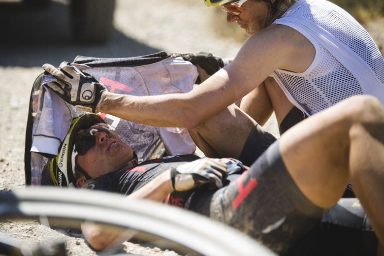 Christina Kollmann suffered heat stroke and couldn't finish the stage.