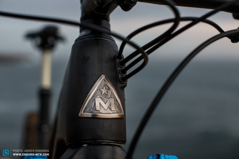 A proper headtube badge appropriate for a brand with  history like Marin.