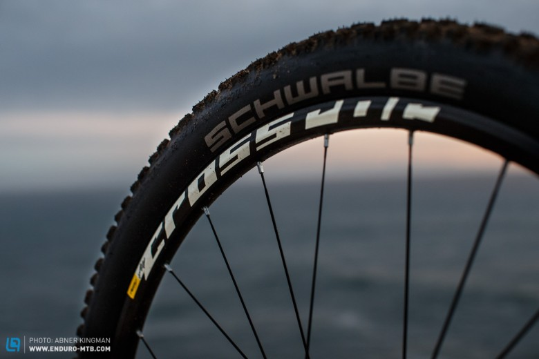 The new Schwalbe Nobby Nic's have been very impressive and will elevate the performance   of the Rift Zone.