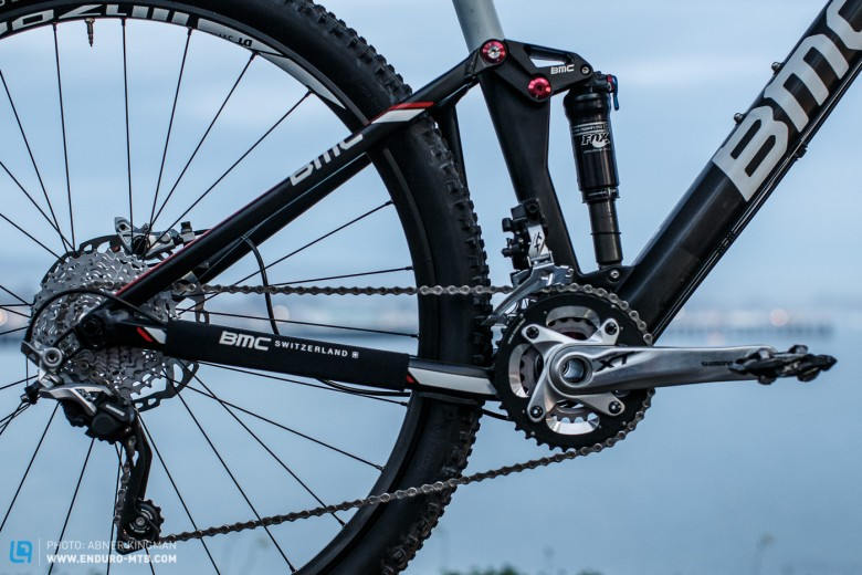 Shifting and braking duties are handled by the reliable and versatile Shimano XT.