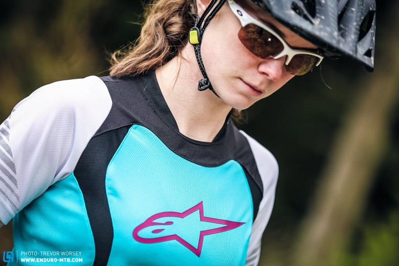 Specifically tailored for female fit from designs developed by Alpinestars women's product department.