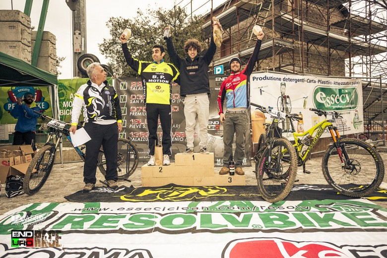 The dominating winner Andrea Paoloni... 17 years old and was 5 minutes quicker than the second biker. Incredible...