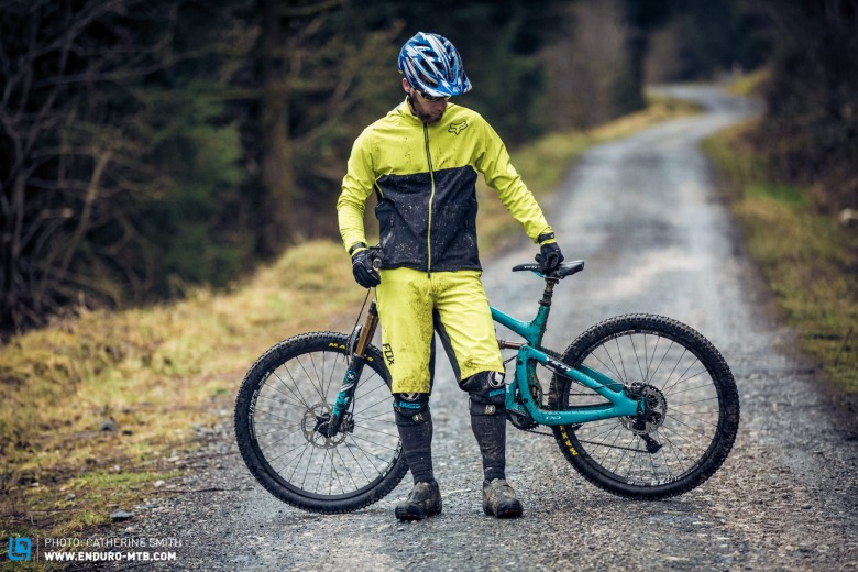 The Fox Downpour Jacket and Attack Shorts certainly stand out.