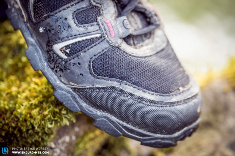 The shoe is highly breathable, and we never felt too warm