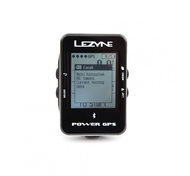 The Power GPS is able to diplay texts from your phone, just don't text and ride!