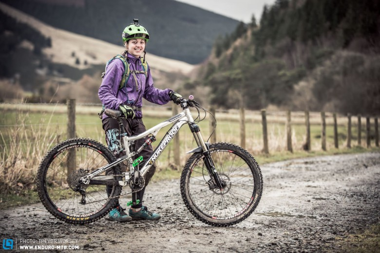 Janey Kennedy was riding the Nukeproof Mega