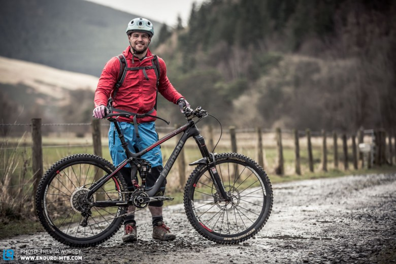 Last years hardtail champion, Michael Clyne now has a full bouncer, the Bianchi Ethonol FS