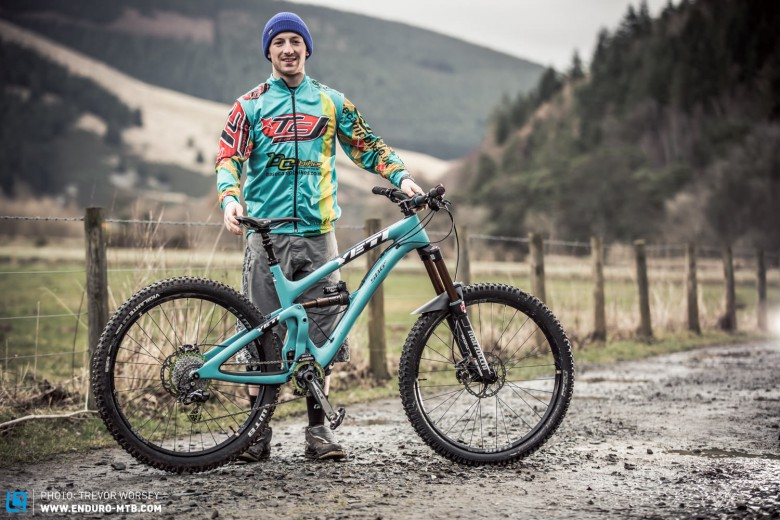 The Scottish Enduro Series 2014 Champion Chris Hutchens is rocking a Yeti SB6C today