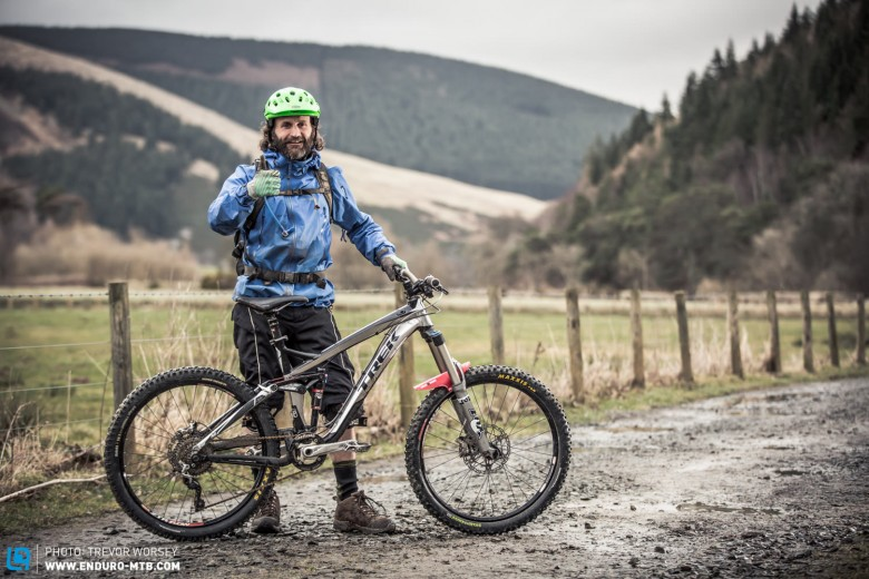 Scott Harrison was looking forward to getting on the hill on his Trek Slash