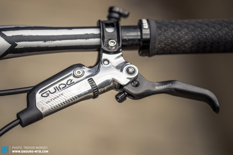 With a carbon lever blade and titanium hardware, the new Ultimate is SRAM's top-of-the-line brake