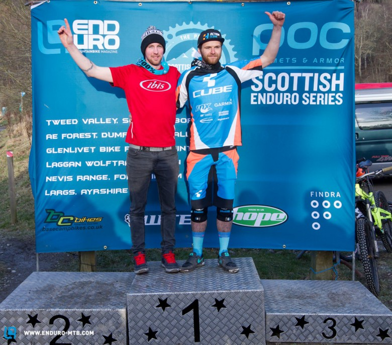 Mens elite podium: 1st Greg Callaghan, 2nd Gary Forrest, 3rd Adam Brayton