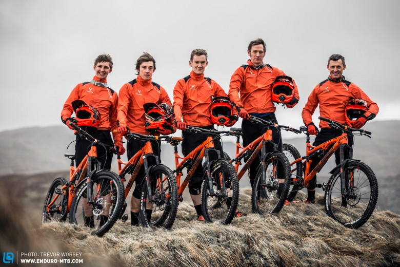 The Whyte 2015 Gravity Enduro Team are fired up and ready to rock