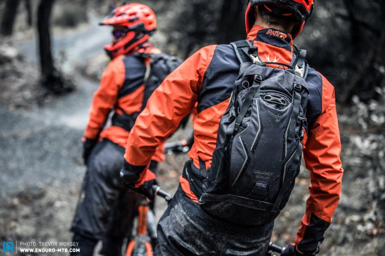 For racing the team will use the new Osprey Zealot packs