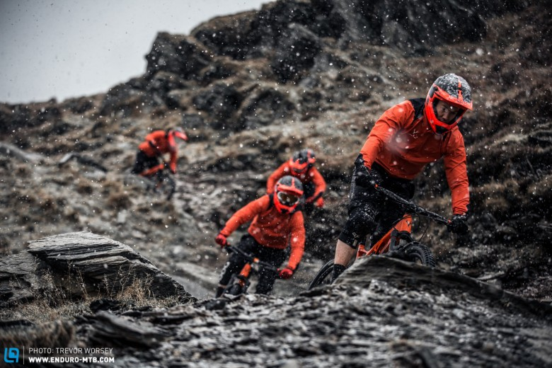 The Whyte 2015 Gravity Enduro Team have been training hard through all weathers